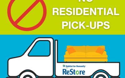 ReStore Donation Pick-Ups